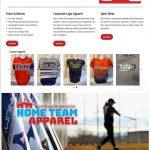 Custom Apparel Website